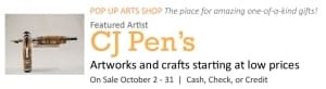 Pop Up Arts Shop: CJ Pen's @ Cultural Arts Center