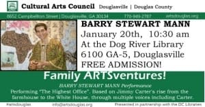 Family ARTSventures: Barry Stewart Mann @ Dog River Public Library | Douglasville | Georgia | United States