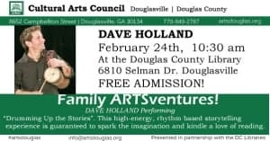 Family ARTSventures: Dave Holland @ Dog River Public Library | Douglasville | Georgia | United States