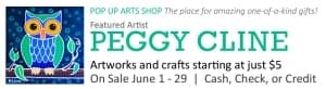 Pop Up Arts Shop: Peggy Cline