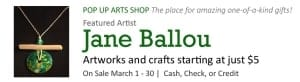 Pop Up Arts Shop: Jane Ballou