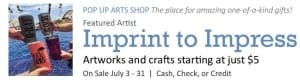 Pop Up Arts Shop: Imprint to Impress