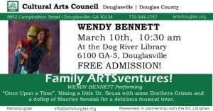Family ARTSventures: Wendy Bennett @ Dog River Public Library | Douglasville | Georgia | United States