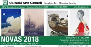 NOVAS (National Open Visual Art Show) @ Cultural Arts Council of Douglasville/ Douglas County