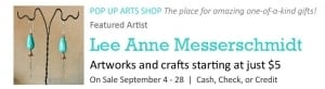 Pop Up Arts Shop: Lee Anne Messerschmidt @ Cultural Arts Council of Douglasville/ Douglas County