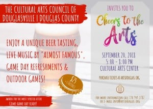 Cheers to the Arts @ Cultural Arts Council of Douglasville/ Douglas County