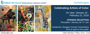 Celebrate Arts of Color Exhibit Reception @ Cultural Arts Council of Douglasville/ Douglas County