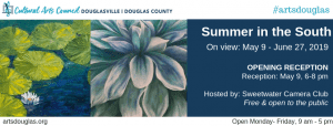 Summer in the South Exhibit @ Cultural Arts Council of Douglasville/ Douglas County