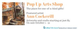 October Pop Up Arts Shop @ Cultural Arts Council