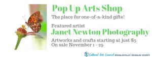 November Pop Up Arts Shop @ Cultural Arts Council